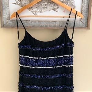 Adrianna Papell Dresses - Adrianna Papell Sequined Lace Slip Dress *NWT*